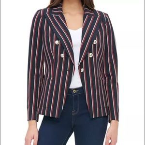 TOMMY HILFIGER striped double breasted blazer -NEW
